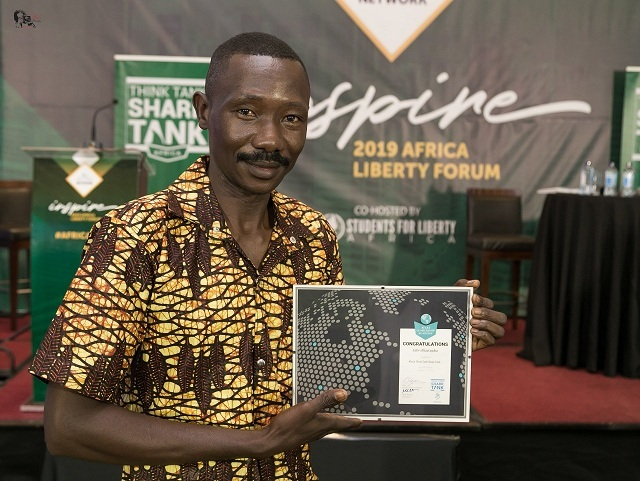 The Executive Director of SOLE who won the Africa Shark Tank Think Tank 2019 award for pitching a project idea on the Right of South Sudanese Women to Own Property