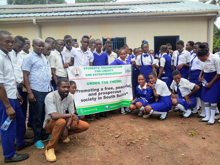 High school students from Alliance High School posing after a career guidance and mentorship program Supported by Network for a Free Society